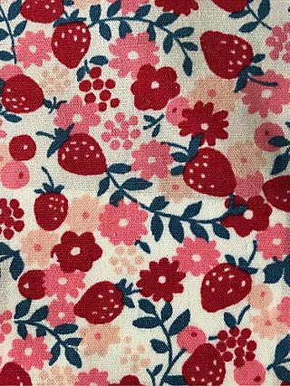 cf3321b37b0 Sevenberry Floral and Strawberry Print Fabric, White/Multi