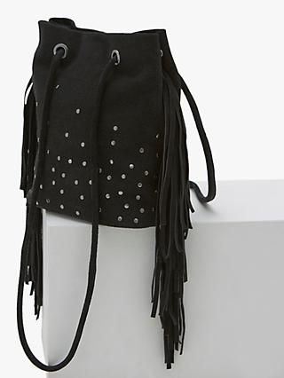 e8fa0eef4566 Mint Velvet Lois Studded Fringe Suede Shoulder Bag