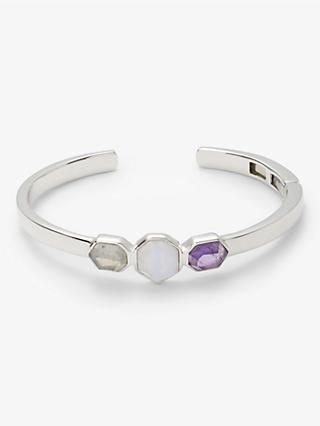 John Lewis & Partners Gemstone Multi Stone Bangle