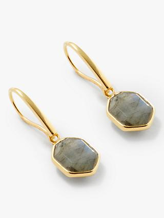 John Lewis & Partners Gemstones Stone Hexagonal Drop Earrings