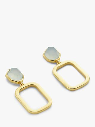 John Lewis & Partners Gemstones Square Drop Earrings