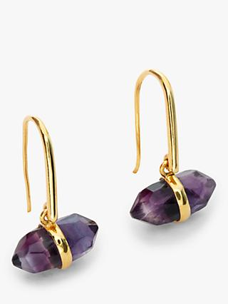 John Lewis & Partners Gemstones Bar Hook Drop Earrings, Amethyst