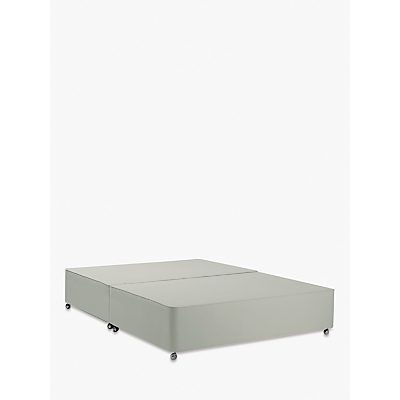 John Lewis & Partners Classic Collection Non-Sprung Upholstered Divan Base, King Size, Canvas Stone Grey, FSC-Certified (Pine)