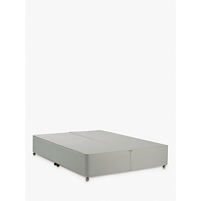 John Lewis & Partners Classic Collection Non-Sprung Upholstered Divan Base, Super King Size, Canvas Stone Grey, FSC-Certified (Pine)