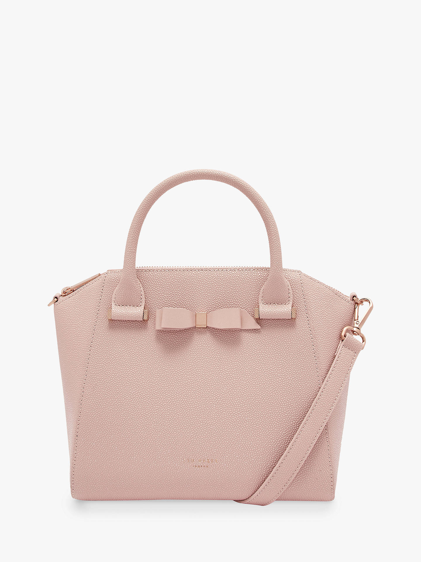 aa7009790 Buy Ted Baker Janne Bow Leather Tote Bag, Light Pink Online at  johnlewis.com ...