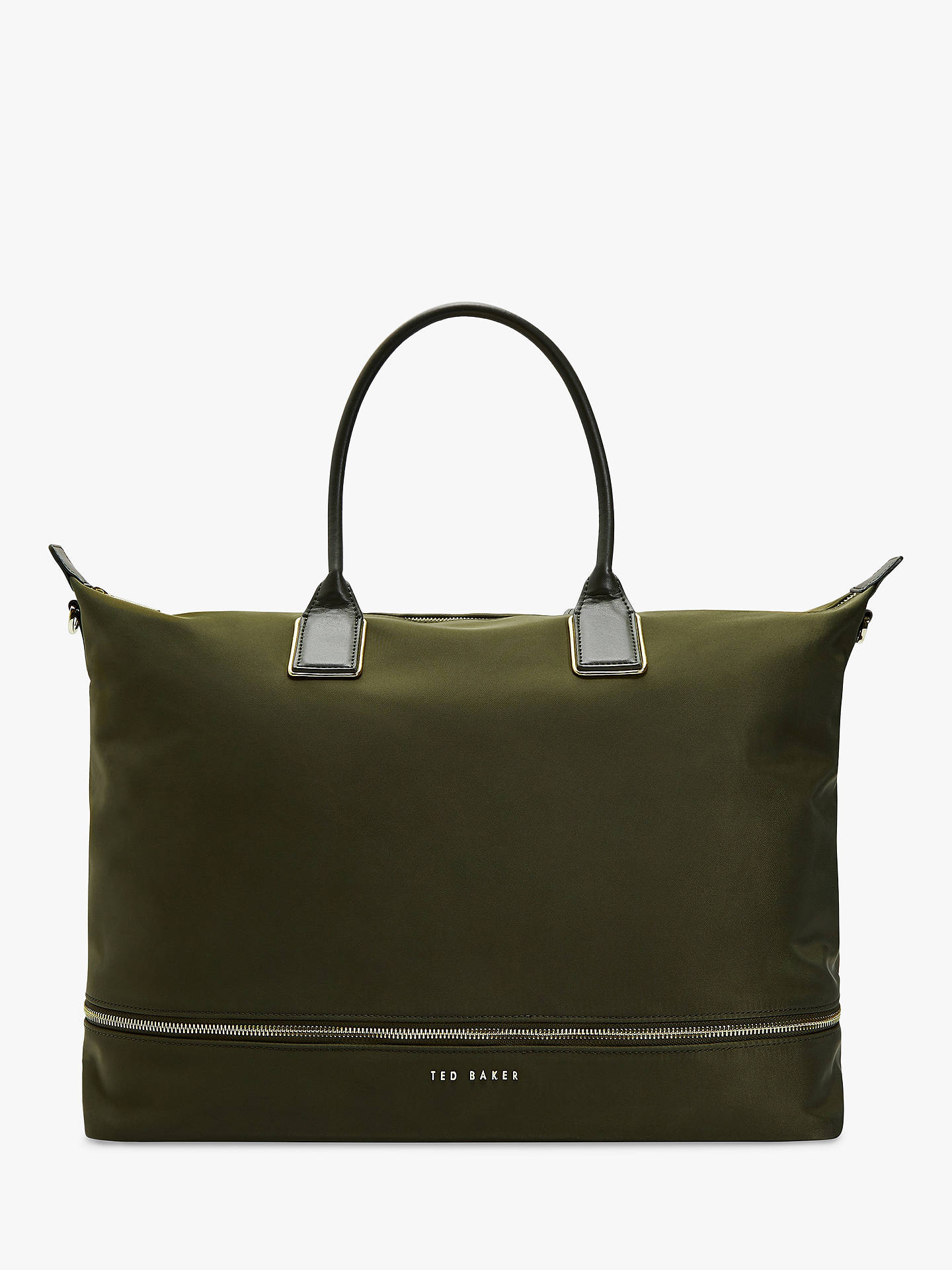 495a3f2a688 Buy Ted Baker Emiia Expandable Tote Bag, Khaki Online at johnlewis.com ...