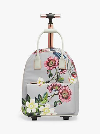 Ted Baker Glloria Bluebell Floral Travel Bag, Light Grey