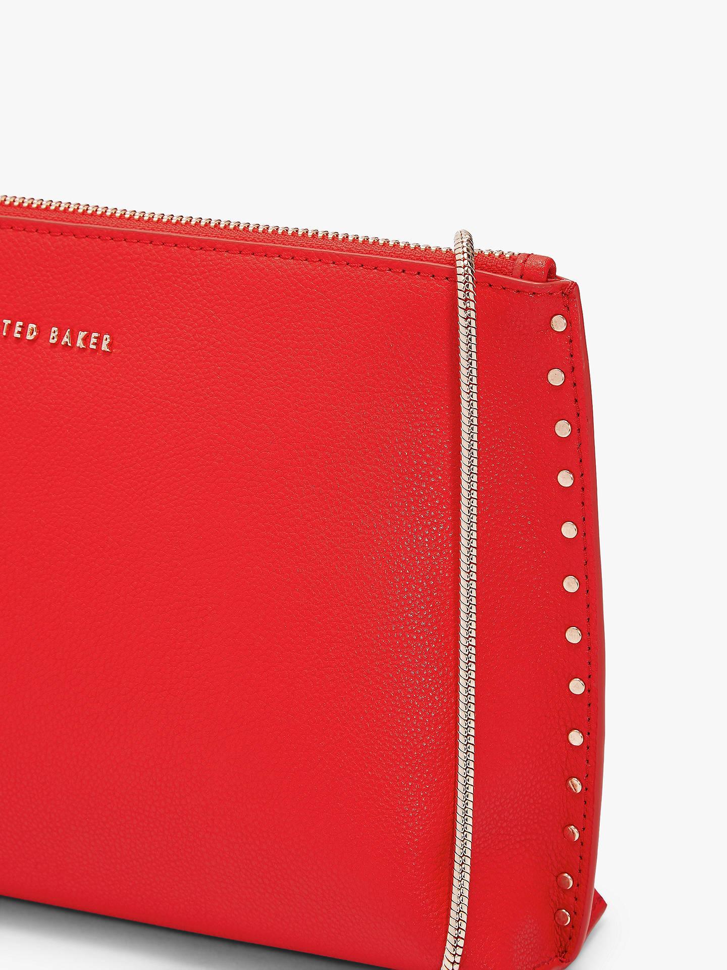 07819c7378 ... Buy Ted Baker Tesssa Leather Evening Bag, Mid Red Online at  johnlewis.com ...