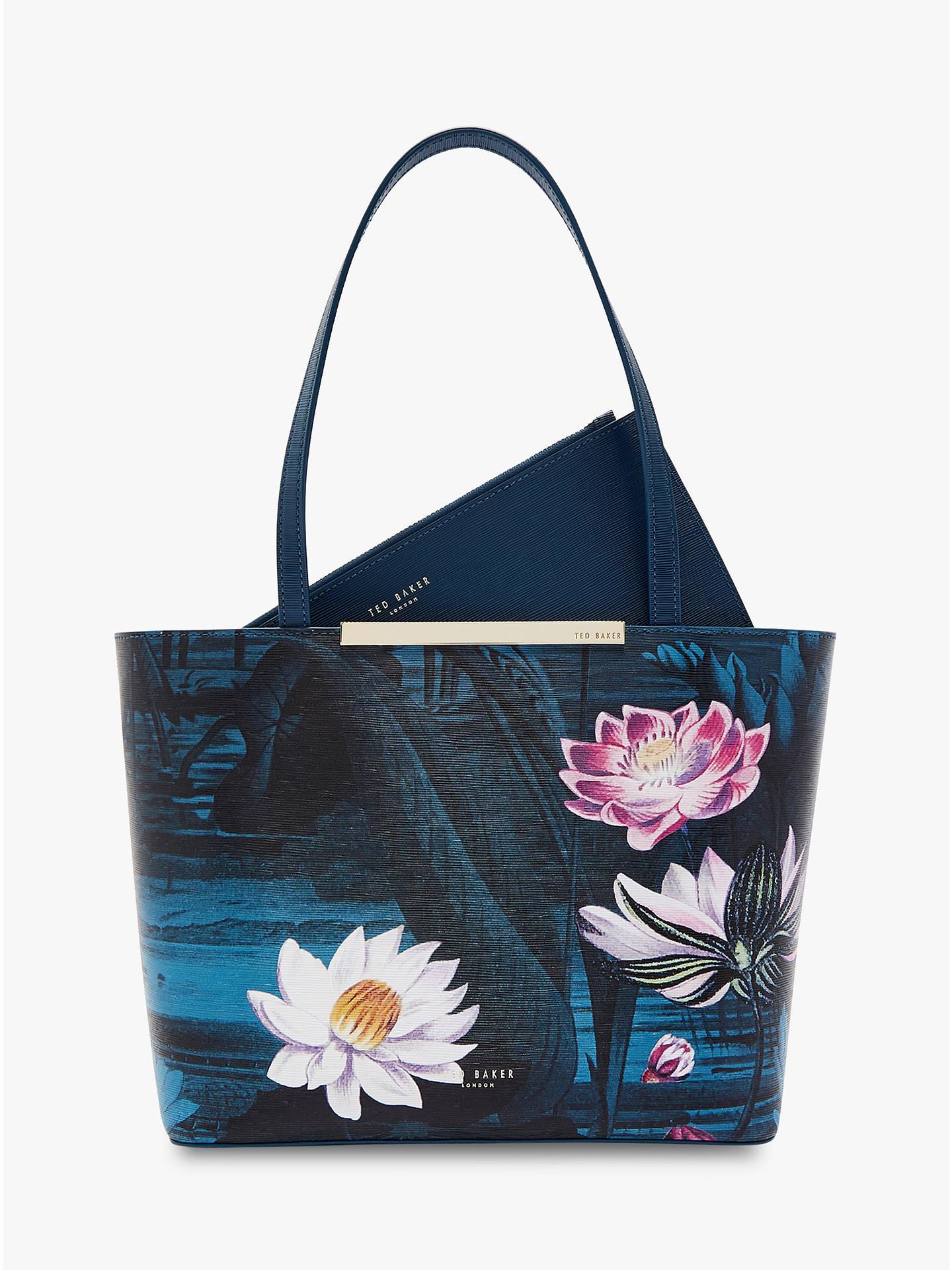 b42a31c7ee0e1 Buy Ted Baker Sirene Mini Shopper Bag, Blue Teal Online at johnlewis.com ...