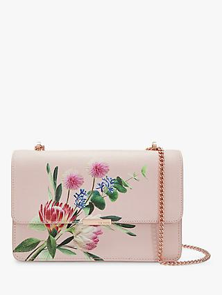 Ted Baker Asterri Mini Leather Cross Body Bag, Light Pink