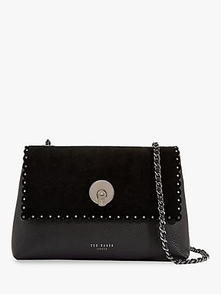 Ted Baker Sultane Lock Detail Leather Cross Body Bag