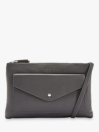 Ted Baker Marllie Leather Double Zip Cross Body Bag