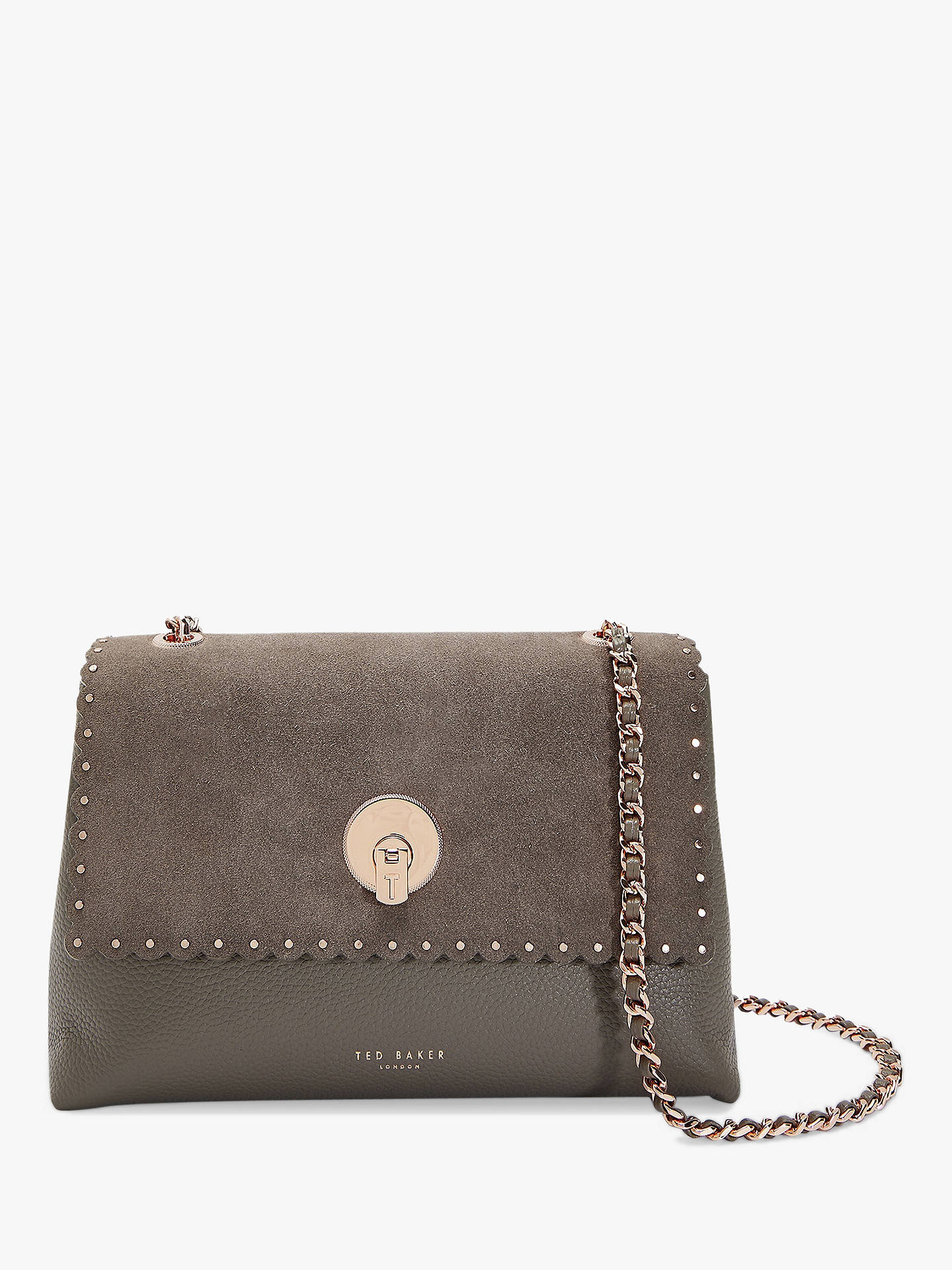 ad30191628bd Ted Baker Sultane Lock Detail Leather Cross Body Bag at John Lewis ...