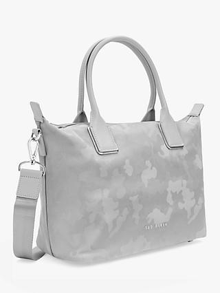 28711ba4c3f Ted Baker Lanaya Small Jacquard Tote Bag, Silver Camo