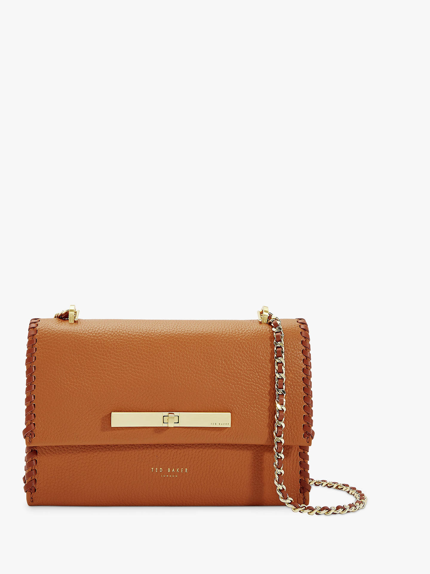 ddfa4162ea12 Ted Baker Cassiia Leather Cross Body Bag at John Lewis   Partners