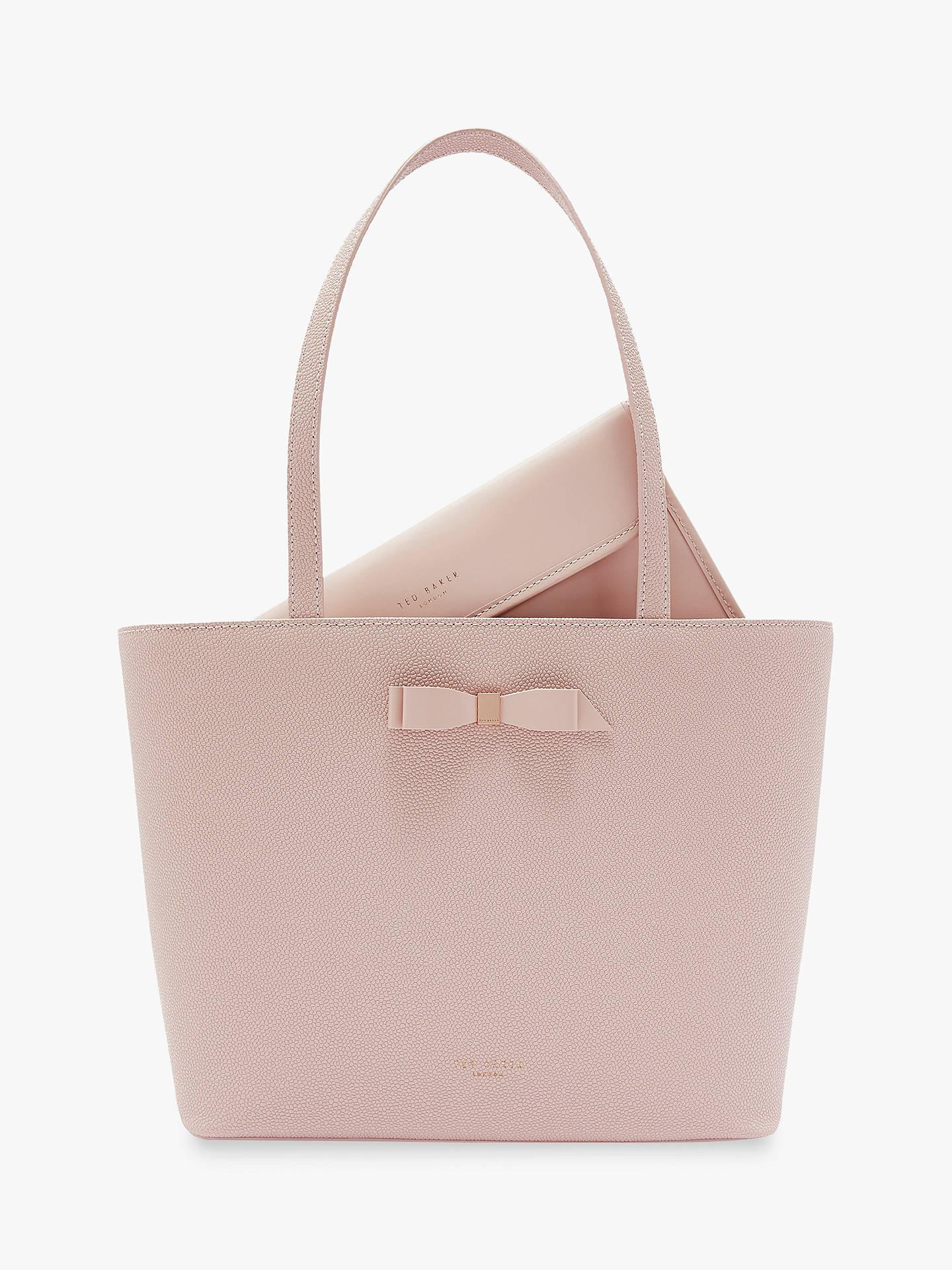 261486382 Buy Ted Baker Jessica Bow Leather Shopper Bag, Light Pink Online at  johnlewis.com ...