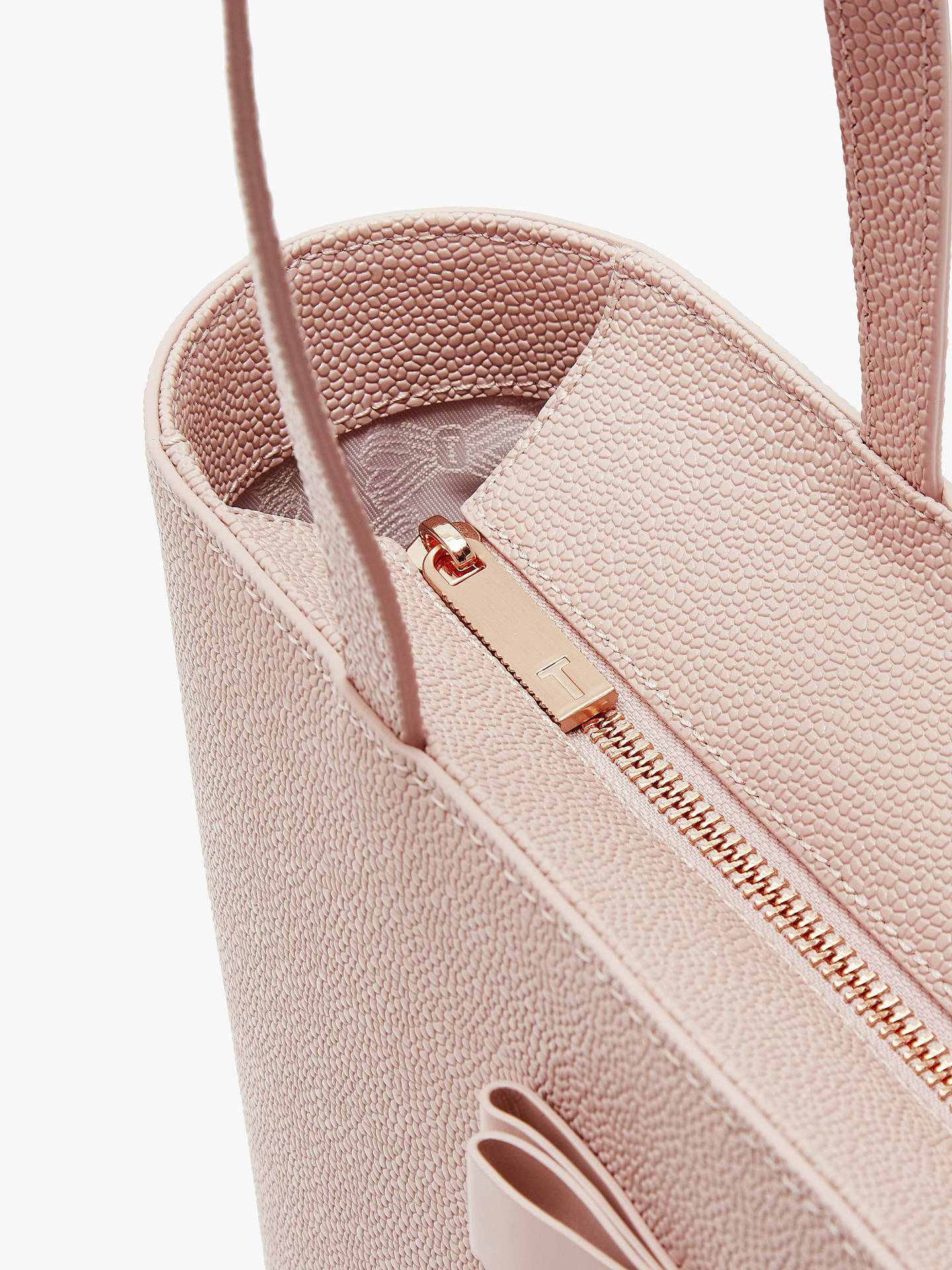 f17057a38 Ted Baker Jessica Bow Leather Shopper Bag at John Lewis   Partners