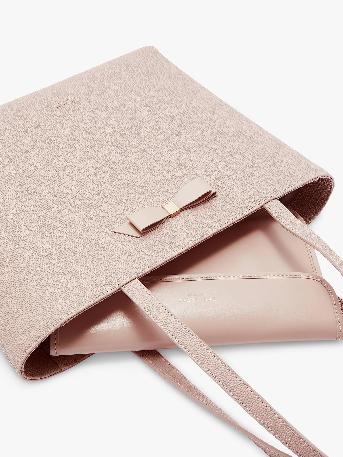 ebf48f55b5 ... Buy Ted Baker Jessica Bow Leather Shopper Bag, Light Pink Online at  johnlewis.com ...