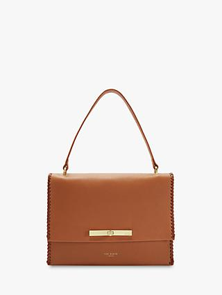 Ted Baker Chita Leather Shoulder Bag, Tan