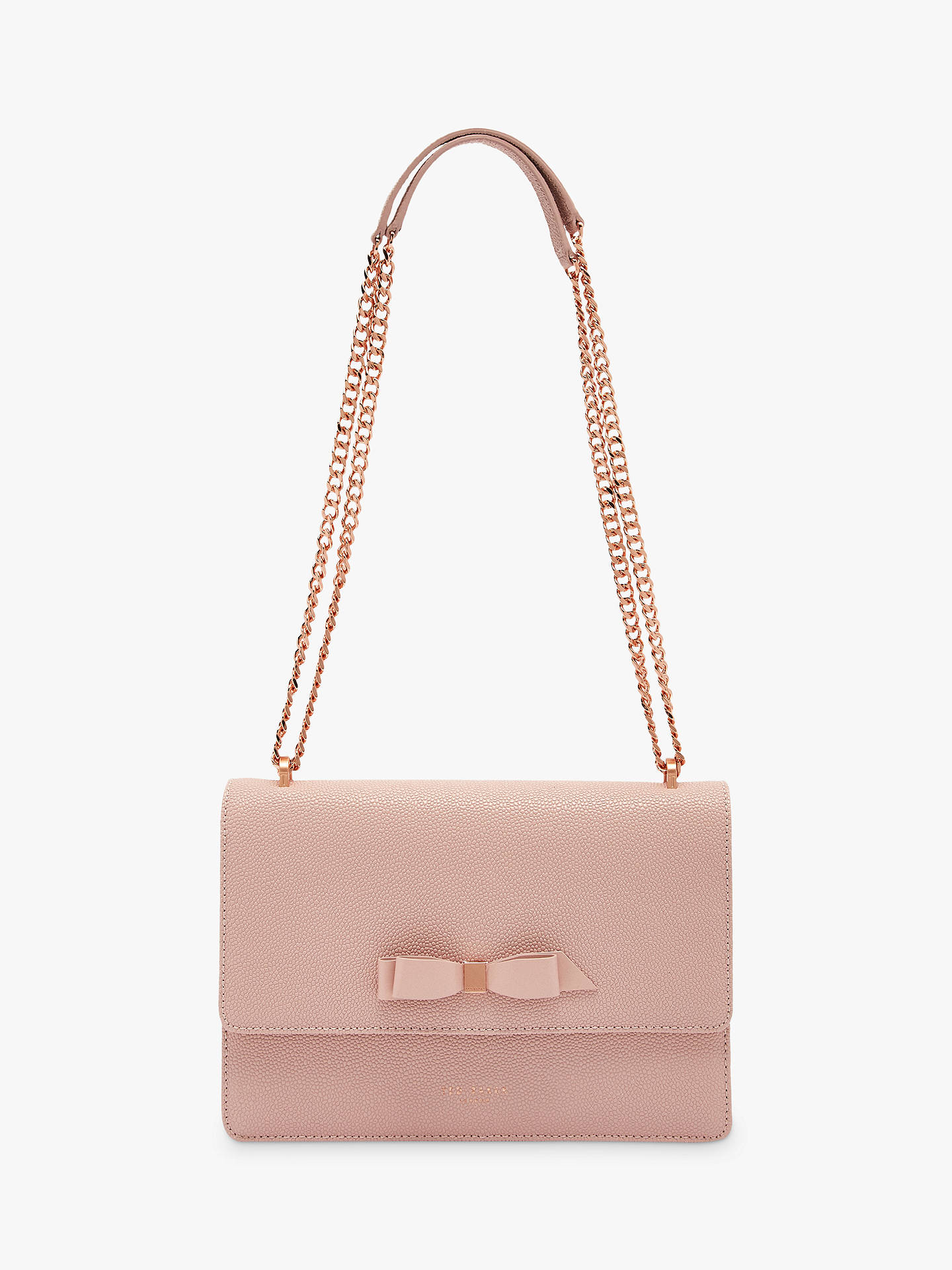 116345c8b Buy Ted Baker Joanaa Bow Leather Cross Body Bag, Light Pink Online at  johnlewis.