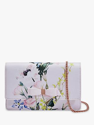 Ted Baker Hania Leather Evening Cross Body Bag, Nude/Multi