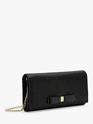 Ted Baker Alaine Leather Matinee Clutch Bag, Black