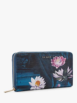 84be7e7a2d40 Ted Baker Dotti Floral Leather Matinee Zip Around Purse