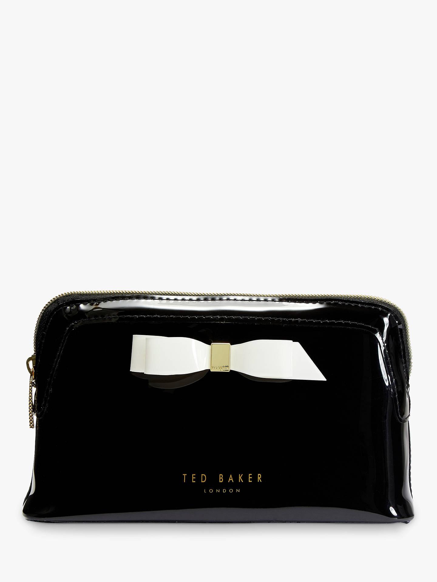 fac2971ad15 Buy Ted Baker Cahira Bow Makeup Bag, Black Online at johnlewis.com ...