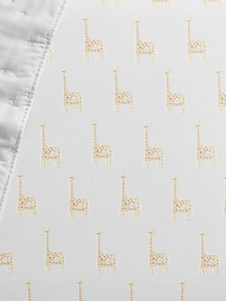 Pottery Barn Kids Organic Cotton Giraffe Fitted Cot Sheet, 70 x 135cm