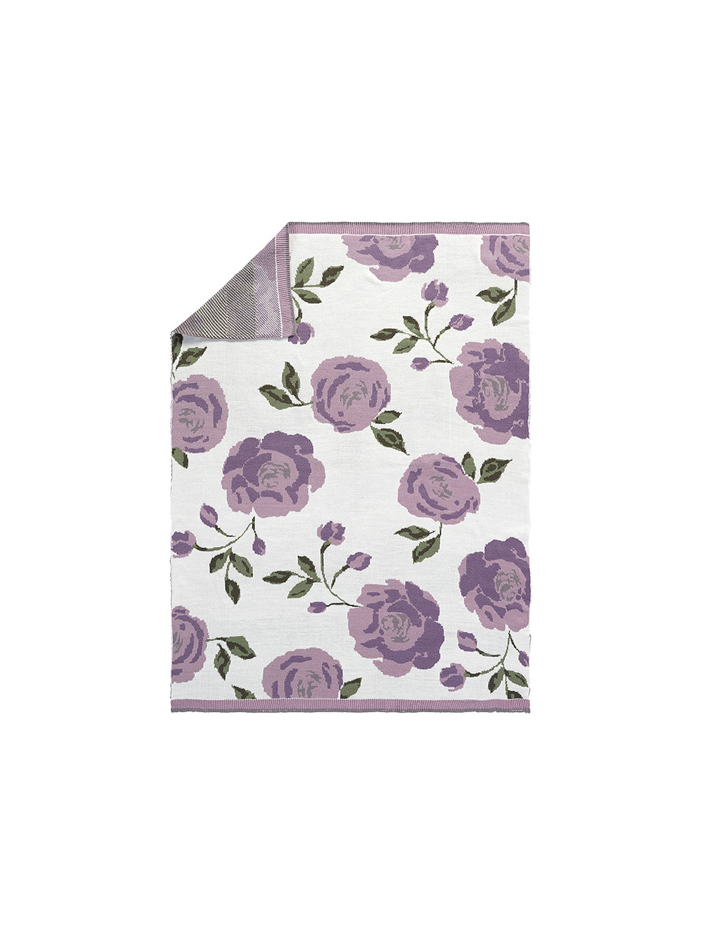 Buy Pottery Barn Kids Meredith Floral Knit Baby Blanket, Lavender Online at johnlewis.com