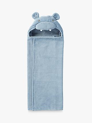 Pottery Barn Kids Hippo Critter Hooded Bath Towel