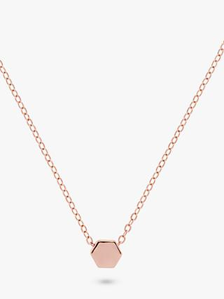 Karen Millen Mosaic Pendant Necklace, Rose Gold