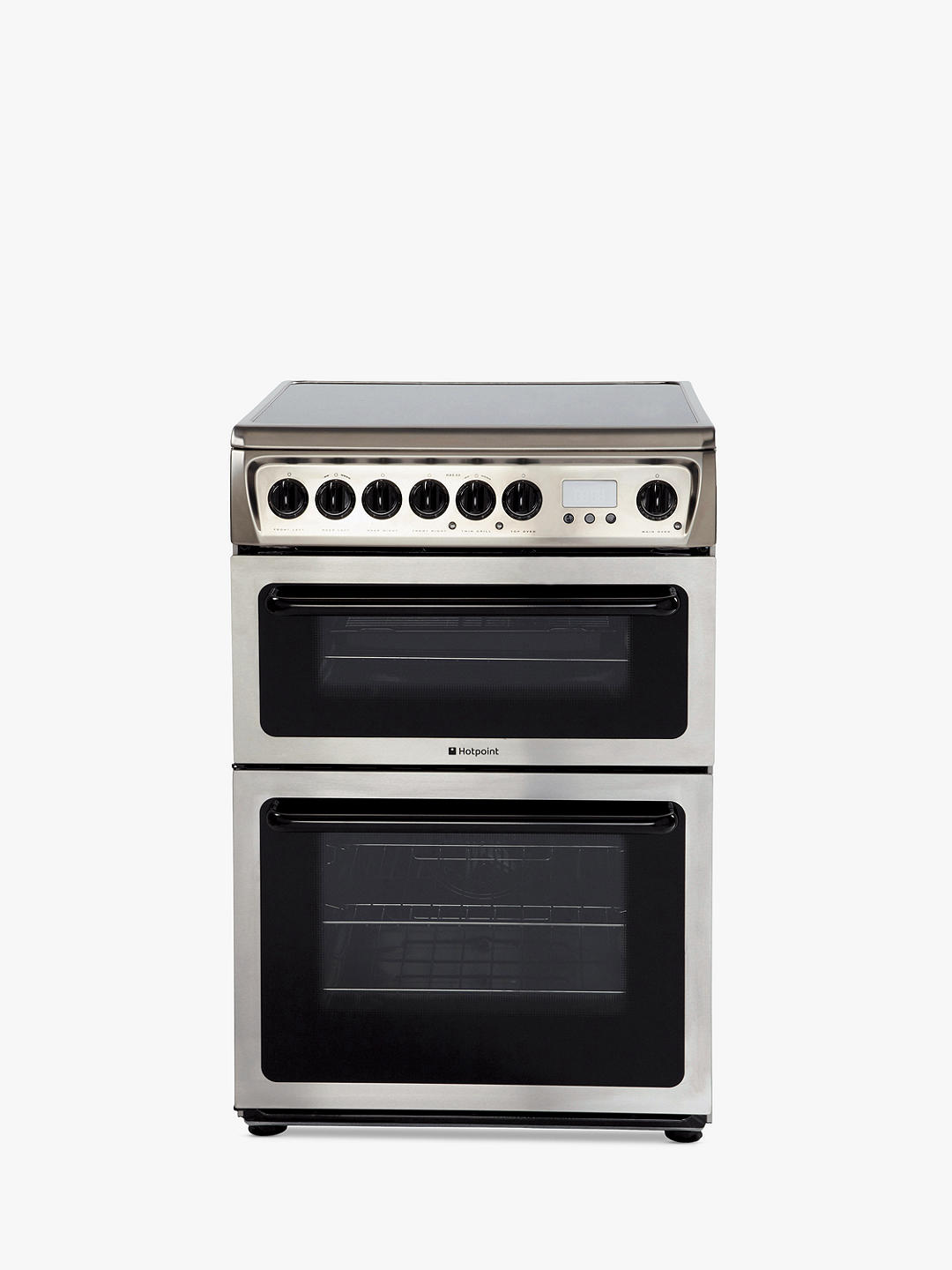 Buy Hotpoint HAE60X S Double Electric Cooker, A Energy Rating, 60cm Wide, Inox Online at johnlewis.com