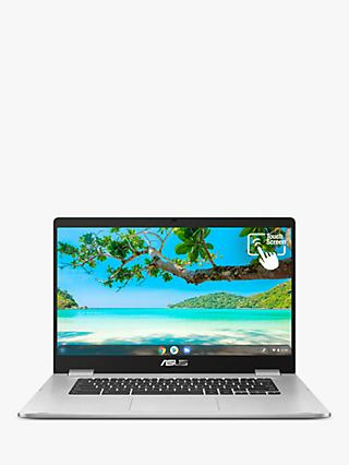 "ASUS Chromebook C523, Intel Pentium Processor, 4GB RAM, 64GB eMMC, 15.6"" Full HD, Silver Metal"