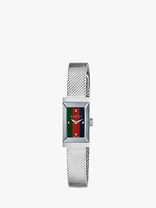 c0705ab79c2 Gucci YA147510 Women s G-Frame Mesh Bracelet Strap Watch