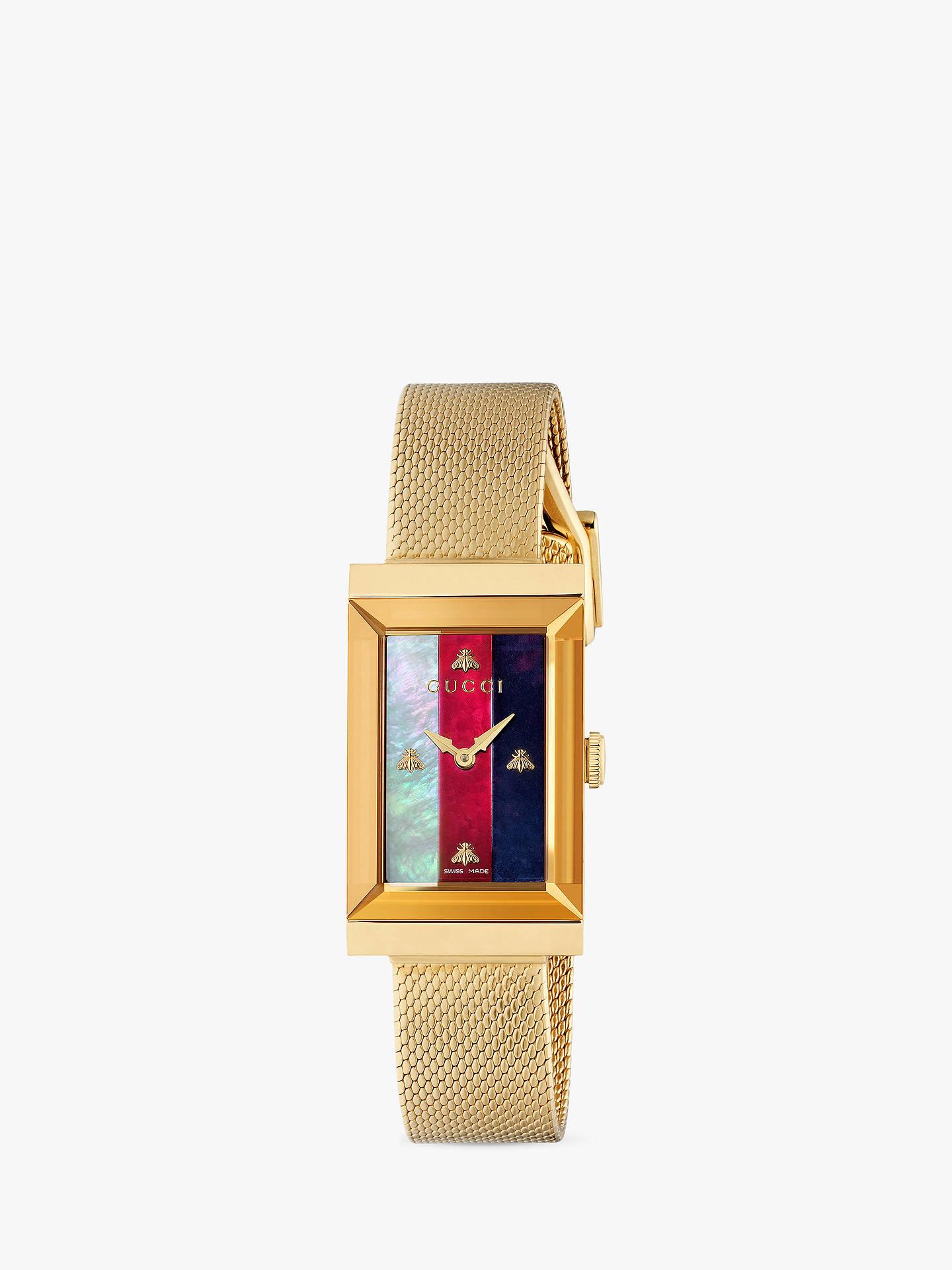 37ed140be16 Buy Gucci YA147410 Women s G-Frame Mesh Bracelet Strap Watch