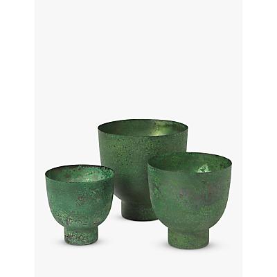 Broste Copenhagen Eik Stainless Steel Flowerpots, Set of 3