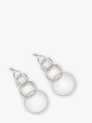 John Lewis & Partners Link Circles Drop Hoop Earrings