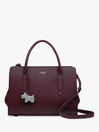 Radley Liverpool Street Medium Leather Grab Bag Red