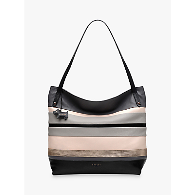 Radley Eaton Hall Large Leather Hobo Bag, Charcoal/Multi