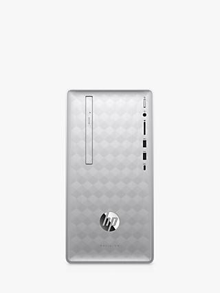 HP Pavilion Desktop PC, AMD Ryzen 7 Processor, 8GB RAM, 2TB HDD + 128GB SSD, Natural Silver