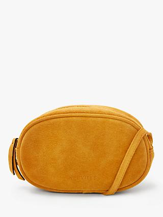 Neuville Ovale Suede Cross Body Bag