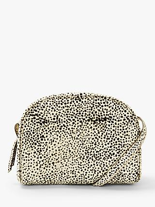 Neuville Eclipse Hair On Hide Cross Body Bag, Dalmatian Spot