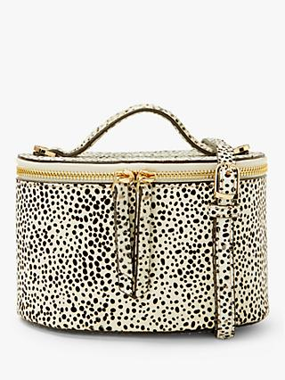 Neuville Baby Morning Hair On Hide Cross Body Bag, Dalmation Spot