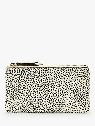 Neuville Terra Hair On Hide Mini Pouch Purse, Dalmation Spot