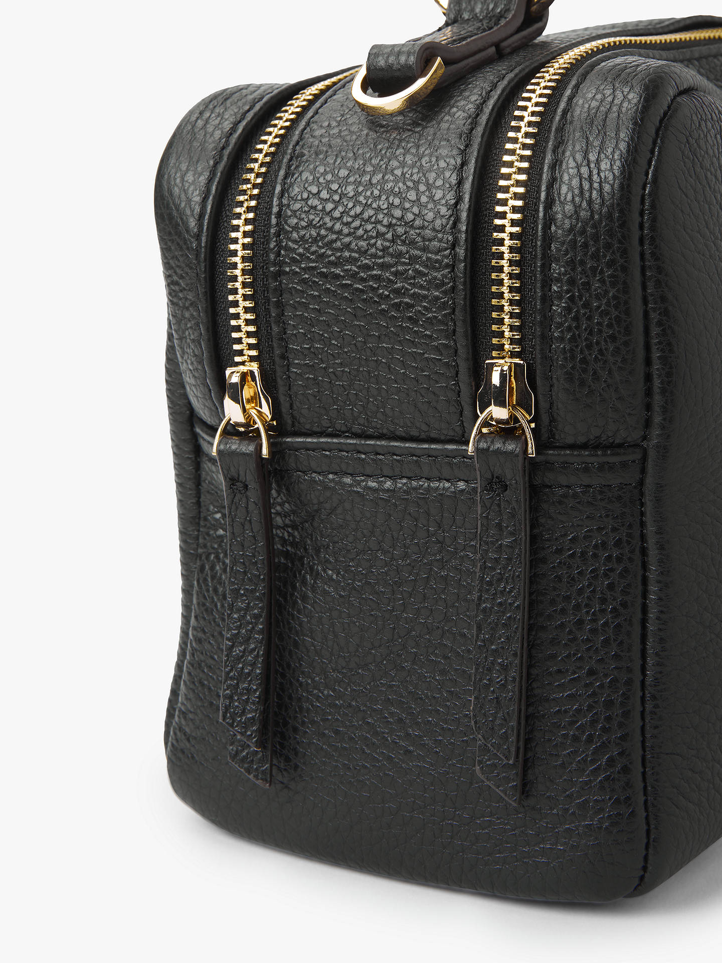 92b355219b Neuville Leather Top Handle Satchel Bag, Black Grain