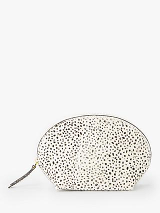 Neuville Cute Hair on Hide Cosmetic Pouch, Dalmatian Spot