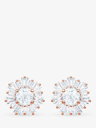 Swarovski Crystal Sunshine Stud Earrings, Rose Gold