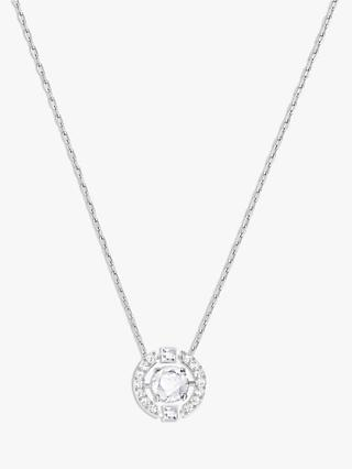 Swarovski Sparkle Crystal Pendant Necklace, Silver