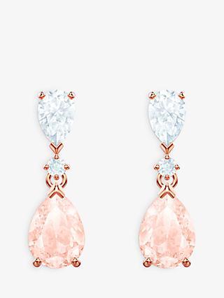 e70a11e6d Swarovski Vintage Crystal Teardrop Drop Earrings